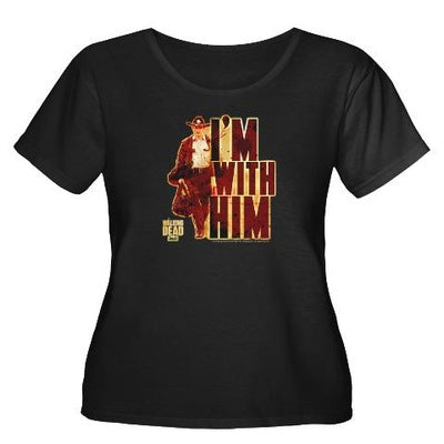 Walking Dead Rick Grimes I'm With Him Women's Plus Size Tee