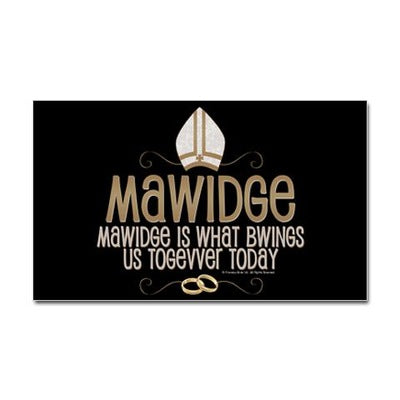 Mawidge Wedding Sticker