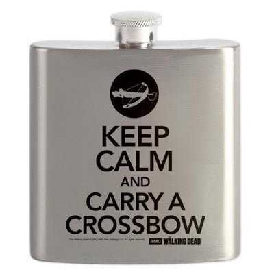 Keep Calm and Carry A Crossbow Flask