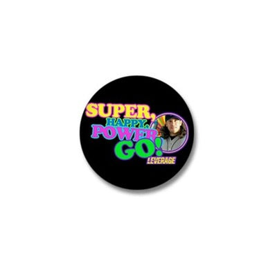 Super Happy Power Go Mini Button