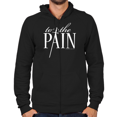 To The Pain Zip Hoodie