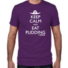 Keep Calm Eat Pudding Fitted T-Shirt