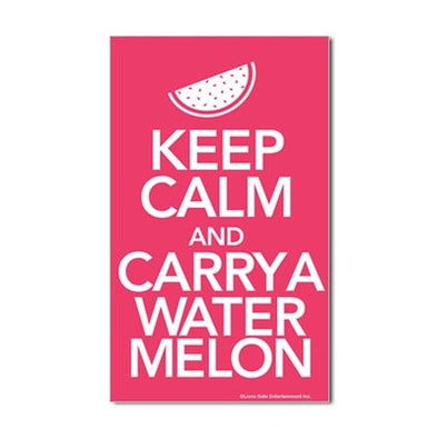 Keep Calm and Carry a Watermelon Sticker