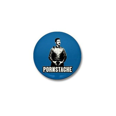Pornstache Mini Button