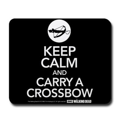 Walking Dead Keep Calm And Carry a Crossbow Mousepad