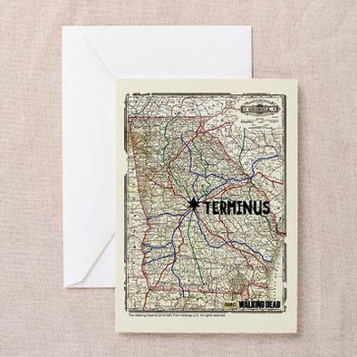 Terminus Map Greeting Card