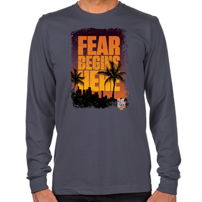 FTWD Fear Begins Here Long Sleeve T-Shirt