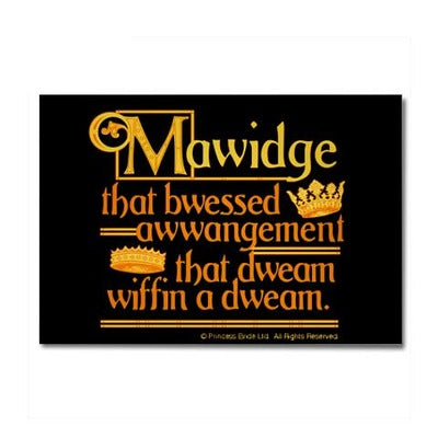 Mawidge Speech Magnet