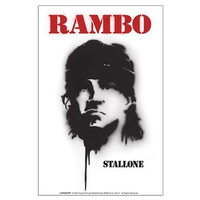 Stencil Rambo Large Poster