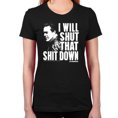 Shut That Shit Down Women's Fitted T-Shirt