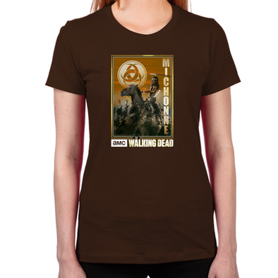 Michonne Zombie Slayer Women's Fitted T-Shirt