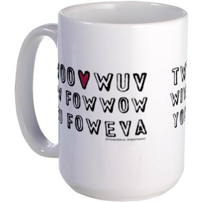 Twoo Wuv Fowever Large Mug