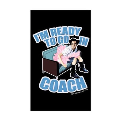 Ace Ventura Ready to Go in Coach Sticker