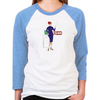 Mad Men Red  Women's Baseball T-Shirt