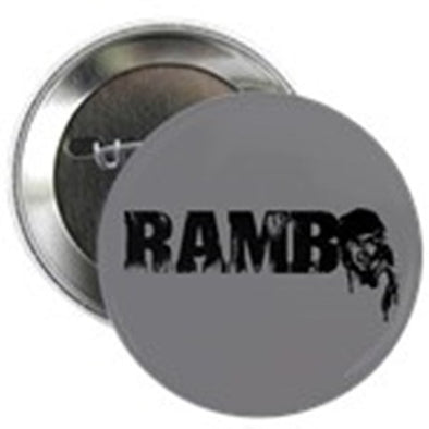 "R is for Rambo 2.25"" Button"