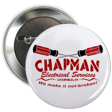 "Chapman's Electrical Services 2.25"" Button"