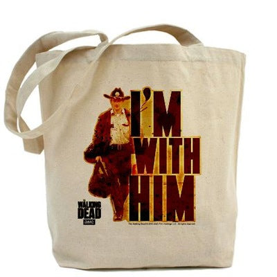 Walking Dead Rick Grimes I'm With Him Tote Bag