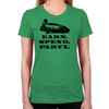 Wolf of Wall Street EARN SPEND PARTY Women's T-Shirt