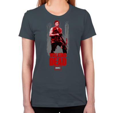 Daryl Dixon Crossbow Women's Fitted T-Shirt
