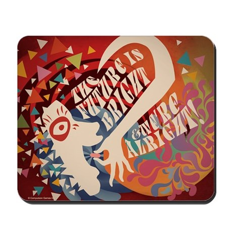 Future Is Bright Confetti Mousepad