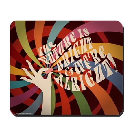 Future Is Bright Swirl Mousepad