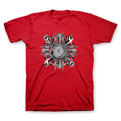 Wheels Red T-Shirt