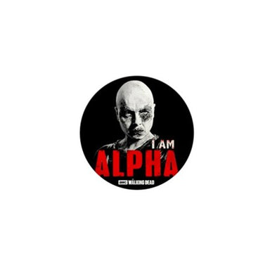 I Am Alpha Mini Button