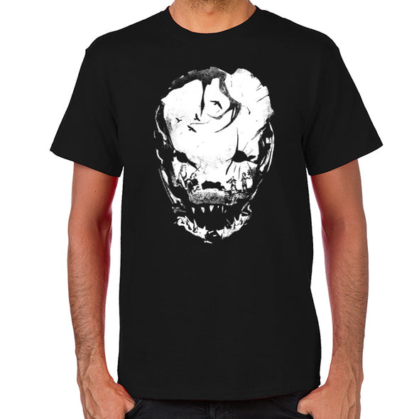 Bloodletting Mask White  White T-Shirt