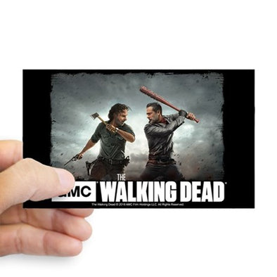 Rick and Negan Face Off Sticker