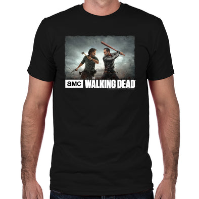 Rick & Negan Face Off Fitted T-Shirt