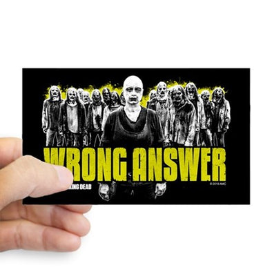 Wrong Answer Sticker