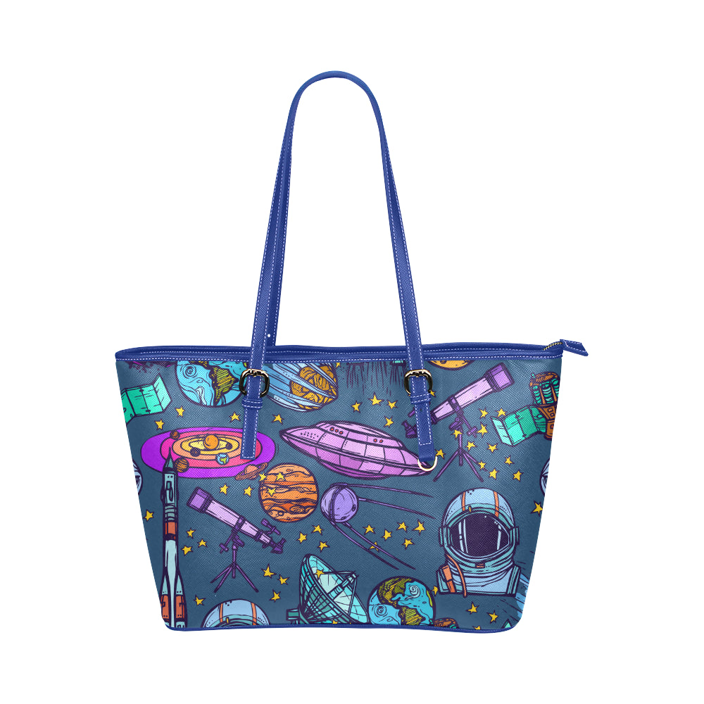 Galactic Sounds Handbag Leather Tote