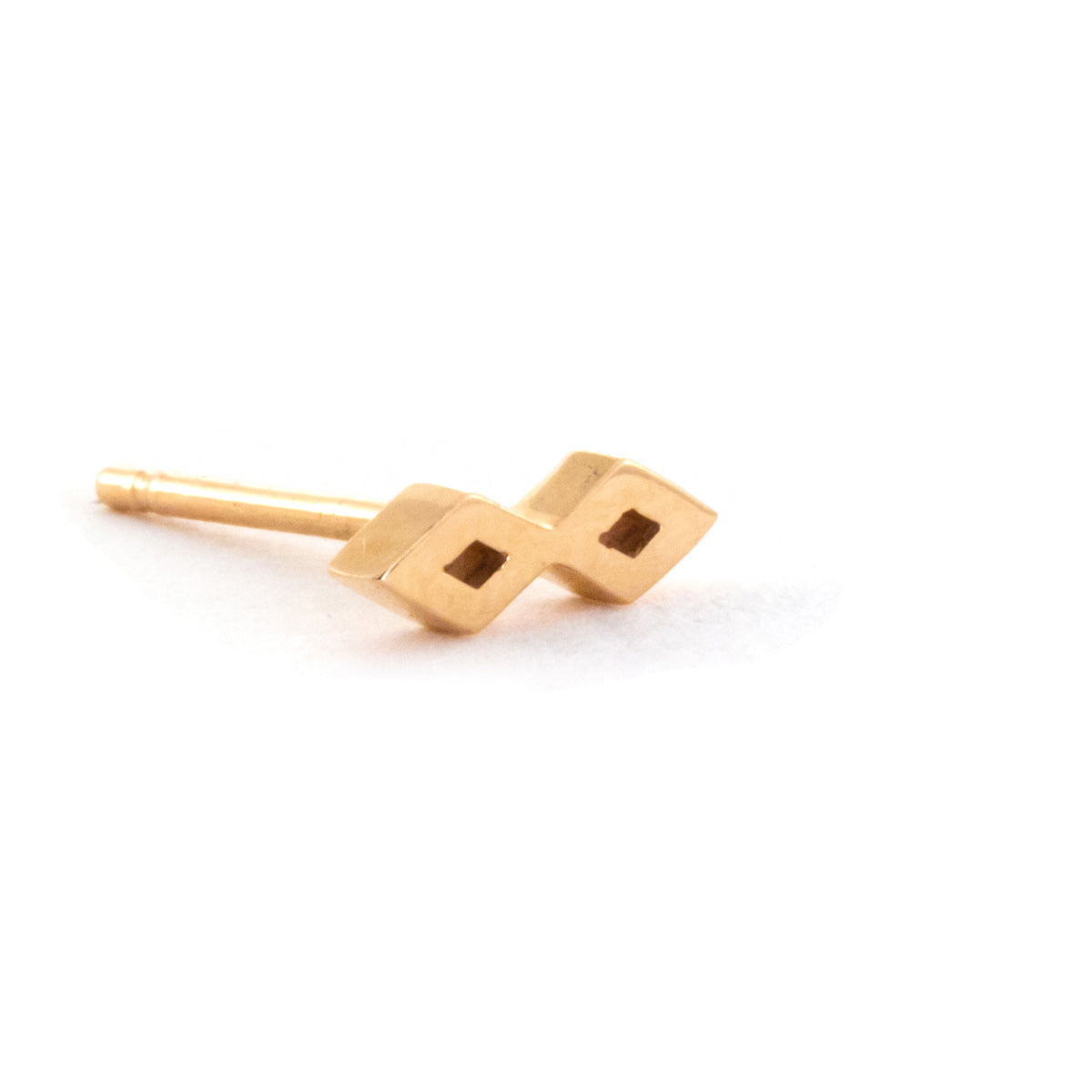Double Diamond Earring - 14K Rose Gold