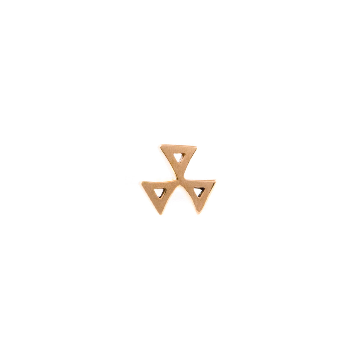 Three Triangle Earring - 14K Rose Gold