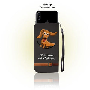 Dachshund Wallet Case For iPhone & Samsung