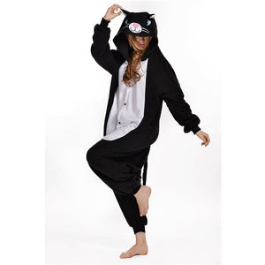 Black Cat Adult Onesie Pajamas
