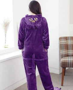 Purple Cat Adult Onesie Pajamas