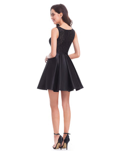Fit and Flare Little Black Party Dress