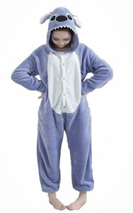 Blue Stitch Adult Onesie Pajamas