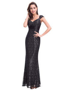 Floor Length Lace Evening Party Dress