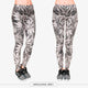 Gray Leaves Sexy Silm Fit High Waist Leggings