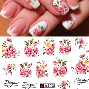 Fashion Rose Flower Nail Art