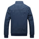 Slim Fit Mandarin Collar Solid Men's Jacket