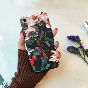 Cherry Floral iPhone Cases