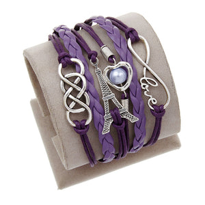 Leather Bracelet Double Multilayer