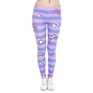 Unicorn And Sweets Slim Fit High Waist Leggings