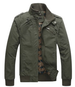 Military Outdoors Stand Collar Men's Jacket