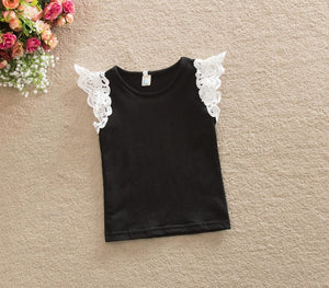 Cute Short Sleeve Tee Tops for Baby Girls