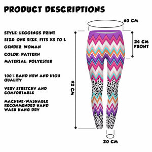 Zig Zag And Dashes Sexy Slim Fit High Waist Leggings