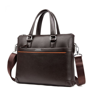 Premium Leather Messenger Bag With Wallet Case